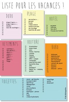 jpg liste pour savoir quoi empor… – Holiday and camping ideas Planner Organisation, Journal Organization, Travel Organization, Bujo, Paint Colors For Living Room, Teaching French, Good To Know, Bullet Journal, How To Plan