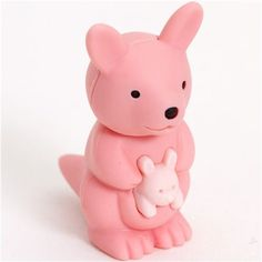 pink kangaroo eraser by Iwako from Japan @modes4u