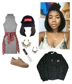 """""""Untitled #175"""" by poetic-soul-child ❤ liked on Polyvore featuring R13, NARS Cosmetics and Fila"""