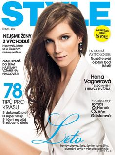 Hana Vagnerová featured on the Style cover from June 2012