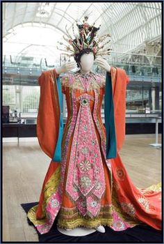 Costume Collection for Princess Turandot in Act I of the Covent Garden Opera Company production