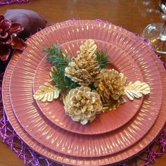 13 reasons to rush outside and collect an armful of pine cones, christmas decorations, crafts, repurposing upcycling, seasonal holiday decor, Glittering Centerpiece