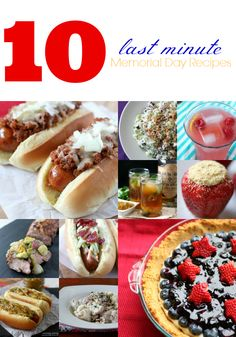 10 Last Minute Memorial Day Recipes by Nutmeg Nanny