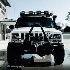 1998 Cherokee. XJ modified with bush bumper and winch.  https://www.pinterest.com/dapoirier/4x4-and-trucks/