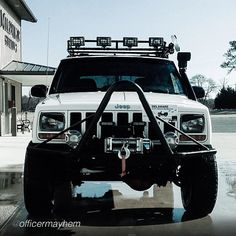 1998 Cherokee. XJ modified with bush bumper and winch.  https://www.pinterest.com/dapoirier/4x4-and-trucks/