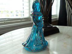 Fenton Art Carnival Glass Hand Painted Shelley Fenton