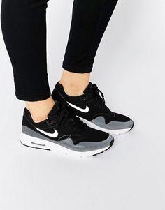Nike - Air Max 1 Ultra Moire - Baskets - Noir et blanc Chaussures  Compensées, 6913d151e79f