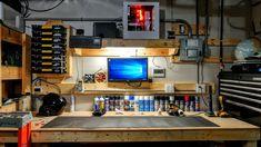 Garage Tinker Station - Imgur Garage Shed, Man Cave Garage, Garage Tools, Garage House, Garage Storage, Car Garage, Basement Workshop, Tool Room, Motorcycle Garage
