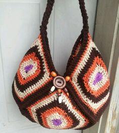 Картинки по запросу granny squares crochet bag