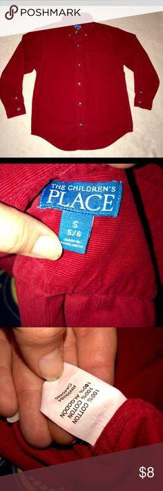 Children's place boys 5/6 red long sleeve euc Euc boys 5/6 children's place long sleeve beautiful red button down shirt! Children's Place Shirts & Tops Button Down Shirts
