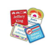 Name Bubbles Small Square Clothing Labels and school uniform labels or school unPrice - $21.88-Bxvz8max
