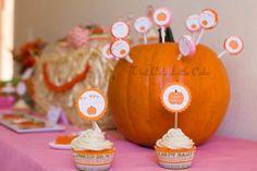 A Sweet Little Pumpkin Party ! Little Pumpkin Party, Cute Pumpkin, Baby In Pumpkin, First Birthday Parties, Birthday Party Themes, First Birthdays, Birthday Bash, Pumpkin Themed Birthday, Pink Pumpkins