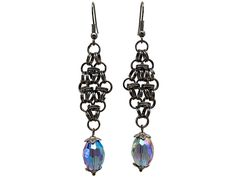 Use coupon 10OFFTLBCJ for 10%OFF on $10.00 or more Use coupon 20OFFTLBCJ for 20%OFF on $20.00 or more --- Free Shipping Jewelry SALE Handmade Glass Crystal Amethyst Split Ring Metal Unique Fashion New Boho Chic Dangle Earrings (Item # LBE017) by TheLoveBabyCompany on Etsy