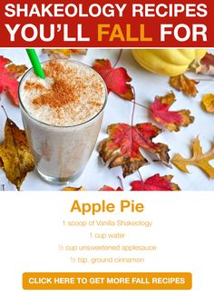 Fall Recipes? Yes Please. Shakeology? Right here: www.ginasfitlife.com