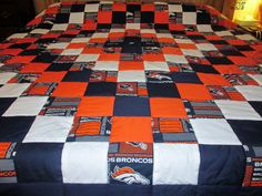Brand New Handmade Denver Broncos King-Size by Quiltingismything