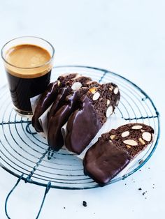Chocolate orange almond biscotti! #food