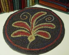 Rug Hooking Pattern, Leafy Fronds Chair Pad, J678 on Etsy, $23.64 CAD