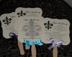 Wedding Fans with Program Program Fans by BluegrassBurlapCo