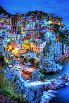 9 Real Life Fairytale Villages in Europe - On the coast of the Italian Riviera sits picturesque Cinque Terra, which is actually five small villages that are so close together you can travel between them by foot.