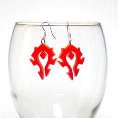 WOW Warcraft Horde Earrings.   For the HORDE!!!