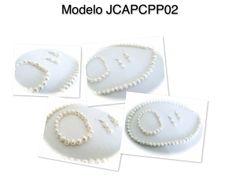 Juego de collar pulsera y aretes de baño de plata, con perla natural clave JCAPCPP02, precio $150, x docena $135 c/u