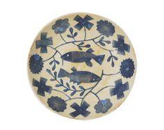 Makota plates. Fish Ornaments, Kagoshima, Animal Illustrations, Fish Print, Art Boards, Tabletop, Goodies, Objects, Blue And White