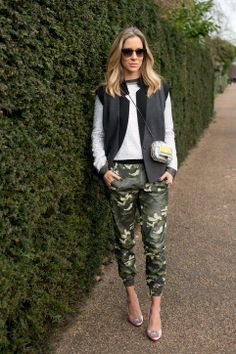 Camo is so hot right now--why not wear it for St. Paddy's?
