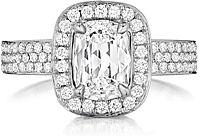 Henri Daussi Triple Row Diamond Engagement Ring