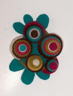felt brooch by woolly  fabulous, via Flickr