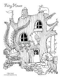 Image Result For Fairy Tree House Coloring Pages Bird Coloring Pages House Colouring Pages Fairy Coloring Pages