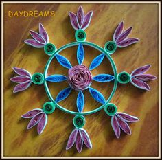 Kolam by Suganthi at DAYDREAMS (Papercraftss.blogspot)
