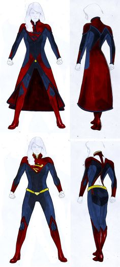 Smallville Season 11 Supergirl Costume Design by gattadonna.deviantart.com on @deviantART