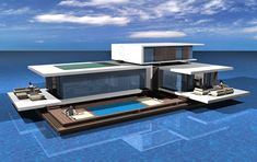 Floating House Floating House Unusual Homes Water House Floating House Architecture 12 Wow D. Floating Architecture, Architecture Design, Houseboat Living, Casas Containers, Build Your Own Boat, Water House, Floating House, Tiny House Movement, Rustic Design
