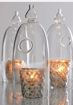 "10"" Pippa Glass Candle Cloches"