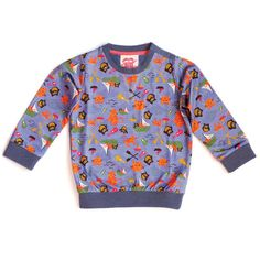 aubrey owl and the pussycat print sweatshirt by Tootsa MacGinty | burp! boutique