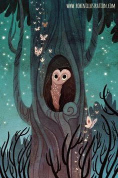 Owl's TreeI painted this right after coming back from the SCBWI WWA conference, enjoying being home and smelling loamy spring nights in my studio. You can get a print on my etsy!