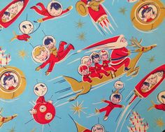 Christmas •~• vintage space-age gift wrap