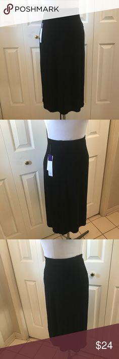 "Kiara Black Slinky Straight Skirt NWT Small Kiara Black Slinky Straight Skirt NWT Small Elastic Waist Measurements taken unstretched 24"" Waist 36"" Hip 29"" Length Kiara Skirts"