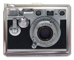Vintage Retro Camera Cigarette Case Lighter or Wallet Business Card Holder. $8.99, via Etsy. NineGiftShop