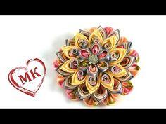 Многослойный цветок канзаши. Цветы из ткани: мастер класс. - YouTube