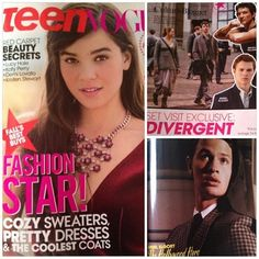 REMINDER: Divergent and Ansel Elgort are featured in the October issue of Teen Vogue ~Divergent~ ~Insurgent~ ~Allegiant~