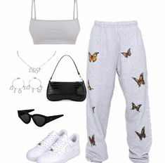 Cute Lazy Outfits, Swag Outfits For Girls, Teenage Outfits, Cute Swag Outfits, Teen Fashion Outfits, Retro Outfits, Girl Outfits, Baddie Outfits Casual, Stylish Outfits