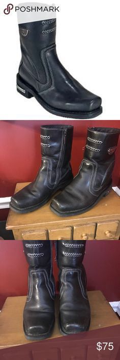 Milwaukee Motorcycle Boots Great quality boots with minimal wear and tear. Have lots of life left in them. Milwaukee Shoes