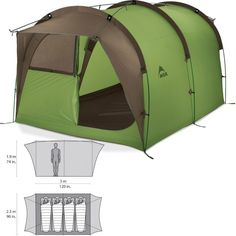 MSR backcountry barn family camping tent