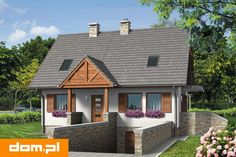 Projekt domu AT Rumiankowa Chata Bis CE - DOM - gotowy koszt budowy Micro House, Cottage Homes, Diy And Crafts, House Plans, Shed, New Homes, Outdoor Structures, House Design, Architecture