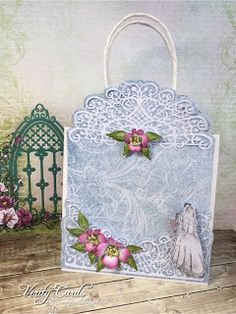 Verity Cards: Back of a giftbag made w/ Flowering Dogwood collection from #HeartfeltCreations #tutorial