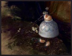 Mandarin Still Life by Selenada on DeviantArt Be Still, Still Life, Portrait Illustration, Decorative Bells, Deviantart, Christmas Ornaments, Holiday Decor, Artist, German