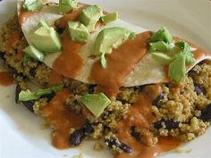 southwestern quinoa burro I think i want to try this one soon. I can put the quinoa in the rice maker after I toasted it and let it go!! IDK or maybe have it for a sat morning breakfast....
