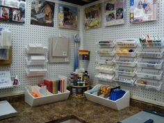 This lady has such fantastic organization skills and inexpensive! Cox3349's Gallery: Dink's Craft Studio, Catch All Station