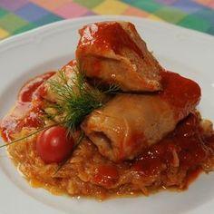 Szabolcsi töltött káposzta My Recipes, Favorite Recipes, Hungarian Recipes, Food Inspiration, Pork, Food And Drink, Turkey, Menu, Chicken